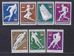 BURUNDI N°  681 à 684, AERIENS 420 à 422 ** MNH Neufs Sans Charnière, TB (D8235) Jeux Olympiques D'hiver Innsbruck -1976 - Burundi