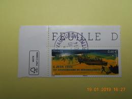 FRANCE 2014   YTN° 4863   70eme ANN. DU DEBARQUEMENT   TN Oblitéré  Coin De Feuille - France