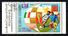 GUINEE EQUATORIALE. Timbre Oblitéré De 1974. Finale De La Coupe Du Monde 1934. - Fußball-Weltmeisterschaft