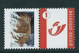 Duostamp  Neuf (**)   Avec N° 3700   Hibou Grand Duc - 1985-.. Oiseaux (Buzin)