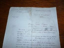 FF5  Document Commercial Facture F Palau Et Ses Fils Céret 1903 Bouchons Et Lièges En Gros - Belgique
