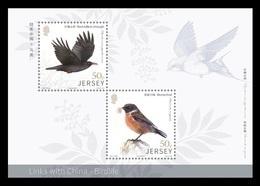 Jersey 2018 Mih. 2244 2247 (Bl.177) Fauna. Birds MNH ** - Jersey