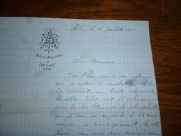 FF5  Document Commercial Facture Frères Maristes Arlon 1905 - Belgique