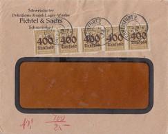 DR Werbebrief Mef Minr.5x 298 Schweinfurt 8.10.23 Geprüft - Lettres & Documents