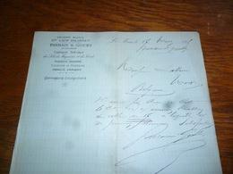 FF5  Document Commercial Facture Parrain & Gouby Le Mans Pharmacie 1905 - Belgique