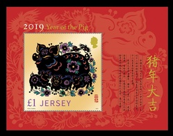 Jersey 2019 Mih. 2274 (Bl.181) Lunar New Year. Year Of The Pig MNH ** - Jersey