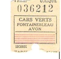 Cars Verts FONTAINEBLEAU  AVON - Bus