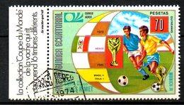 GUINEE EQUATORIALE. Timbre Oblitéré De 1974. Finale De La Coupe Du Monde 1970. - 1970 – Mexique