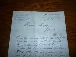 FF5  Document Commercial Facture Pharmacie Paternottre Soignies 1904 - Belgique