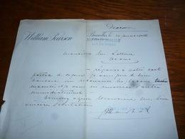 FF5  Document Commercial Facture William Pearson Bruxelles - Belgique