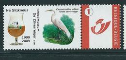 Duostamp  Neuf (**)   Avec N° 3700   Grote Zilverreiger  + Verre De Bière - 1985-.. Oiseaux (Buzin)