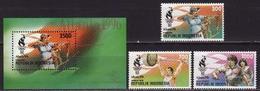 Indonesia, 1996 Atlanta Olympics, 3 Stamps + Block - Ete 1996: Atlanta