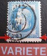 R1684/129 - NAPOLEON III Lauré N°29 - BUREAU DE PASSE 1307 De DIJON Du 11 JANVIER 1868 - VARIETE ➤ ➤➤ Filet Sud écrasé - 1863-1870 Napoléon III Lauré