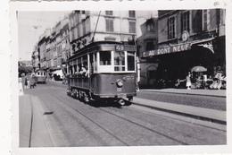 Photographie Originale 6,2 X 9 (31) TOULOUSE Place Du Pont Neuf 1949 Transport En Commun Tramway (2 Scans) - Photographs