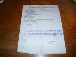 FF5  Document Commercial Facture Laboratoire Pelerin Et Sevrin Bruxelles 1904 - Belgique