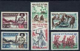Wallis And Futuna,  Definitives, Traditions, 1957, MNH VF  Complete Set Of 6 - Wallis And Futuna
