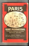 "Guide International Paris Monuments  édition ""cartes Taride""  Réf 318  Français Anglais Espagnol - Libri, Riviste, Fumetti"