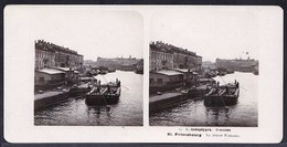 RUSSIA - STEREOSCOPIC PHOTO STEREOSCOPIQUE ** ST PETERSBOURG - RIVIERE FONTANKA **  édit. STEGLITZ BERLIN 1905 - Old (before 1900)