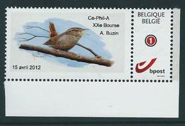 Duostamp  Neuf (**)   Avec N° 4183 (auto-adhésif)  15 Avril 2012 - 1985-.. Oiseaux (Buzin)