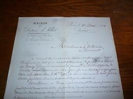FF5  Document Commercial Facture Maison Du DOcteur Pillet Poinceau Pharmacien Paris 1904 - Belgique