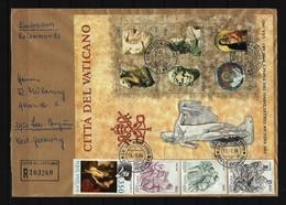 VATIKAN Reco-Beleg Mit Block Mi-Nr. 6 Ausstellung Vatikanischer Kunstwerke In Den Vereinigten Staaten Von Amerika - Vatican