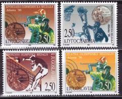 Yugoslavija, Medals, Olympic Games 1996, 4 Stamps - Ete 1996: Atlanta