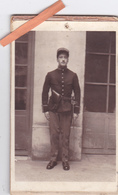 PHOTO ORIGINALE CDV MILTAIRE-AUGUSTE DAMIEN-DOUANE MILITAIRE 1914-Photo L. COMPOINT FONTAINEBLEAU- - War, Military