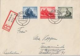 DR R-Brief Mif Minr.874,877,885 Berlin 23.3.44 Mit Einlieferungsschein - Deutschland
