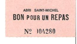 Abri Saint Michel      Bon Pour Un Repas - Tickets - Entradas