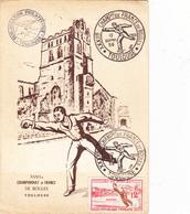 CPSM (31) TOULOUSE 32ème Championnat De France De Boules Sport Jeu Lyonnaise ? Pétanque 1958  (2 Scans) - Toulouse