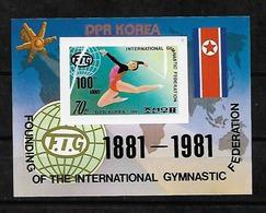 #B218A#  MICHEL BL 98 MNH** SPACE, SPORT. - Corée Du Nord