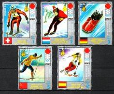 GUINEE EQUATORIALE. 5 Timbres Oblitérés De 1972. J.O. De Sapporo/Ski/Bobsleigh/Patinage. - Hiver 1972: Sapporo