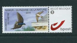 Duostamp  Neuf (**)   Avec N° 4084  Hirondelle  Namur Quizaine De La Nature  2011 - 1985-.. Oiseaux (Buzin)
