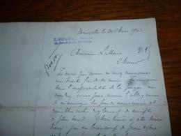 FF5  Document Commercial Facture Pharmacie Poumay Bruxelles 1902 - Belgique