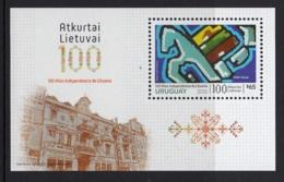 9.- URUGUAY 2018 LITHUANIA INDEPENDECE - 100 YEARS ANNIVERSARY - Uruguay