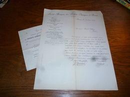 FF5  Document Commercial Facture S.A. Produits Chimiques D'Aiseau 1904 - Belgique