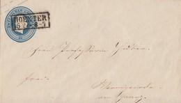 Preussen GS-Umschlag 2 Silbergr. R2 Hoexter 15.2. Gel. Nach Wernigerode - Preussen