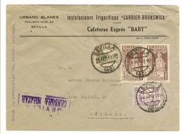 Historia Postal España  Andalucia  Carta Sevilla-Cádiz  1939  NL1296 - 1931-Aujourd'hui: II. République - ....Juan Carlos I