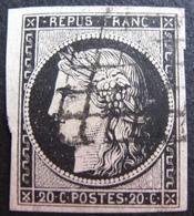 DF50478/54 - CERES N°3 - GRILLE NOIRE - Cote : 65,00 € - 1849-1850 Cérès