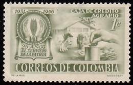 COLUMBIA - Scott #670 Emblem Of Dairy Farm / Mint H Stamp - Colombia