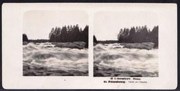 RUSSIA - STEREOSCOPIC PHOTO STEREOSCOPIQUE ** ST PETERSBOURG - CHUTE DE L' IMATRA**  édit. STEGLITZ BERLIN 1905 - Photos