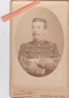"""PHOTO ORIGINALE 19ème CDV MILTAIRE-LIEUTENANT """"ACHILLE FERGANIER 17ème R.A 1er ESCADRON-1899-Photo P.PETIT - War, Military"""