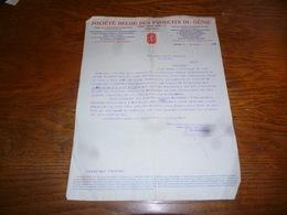 FF5  Document Commercial Facture Société Produits Du Génie Péruwelz 1904 - Belgique