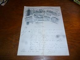 FF5  Document Commercial Facture Société Coopérative Des Ouvriers Du Centre Jolimont 1902 La Louvière - Belgique