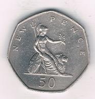 50 PENCE 1970  GROOT BRITANNIE /0484// - 1902-1971 : Monnaies Post-Victoriennes