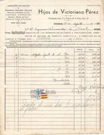España. Factura Fechada En Oviedo Con Sello Local De 1 Pta - 1931-Aujourd'hui: II. République - ....Juan Carlos I