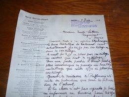 FF5  Document Commercial Facture René Quinet Huart Casteau 1906 - Belgique