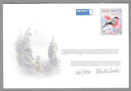 Postal Stationery Red Cross Finland - Envelope Bullfinch Bouvreuil Gimpel - Used - Finlande