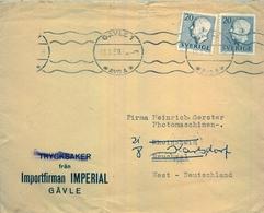 1959, SUECIA , SOBRE CIRCULADO , GAVLE - BRUCHSAL - Suède