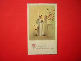 IMAGE RELIGIEUSE / PIEUSE 1962 MON AME A ATTENDU AVEC CONFIANCE LA PAROLE DU SEIGNEUR - Images Religieuses